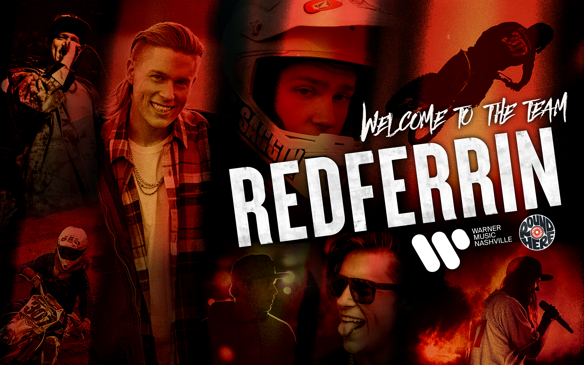 WARNER MUSIC NASHVILLE SIGNS ROUND HERE RECORDS RECORDING ARTIST REDFERRIN